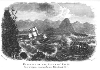 Tonquin at entrance of the Columbia