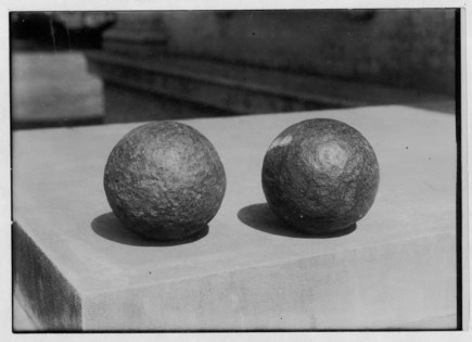 Two cannon balls fired at the home of Rev. William Richards in Lahaina-HSA-PP-37-2-007