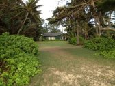 View from beach to house at Uluniu Laie house