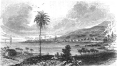 View of Kealakekua Bay from the village of Kaʻawaloa-Bingham-1820s