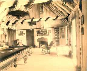 Volcano House billiard room, Kīlauea, Hawai'i-(HHS-6019)-early 1890s