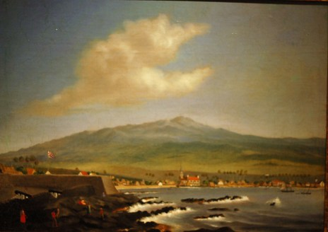 WLA_haa_Kailua_Kona_with_Hualalai_by_James_Gay_Sawkins_1852
