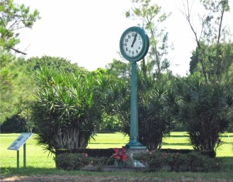 Waiakea Social Settlement Clock-memorial