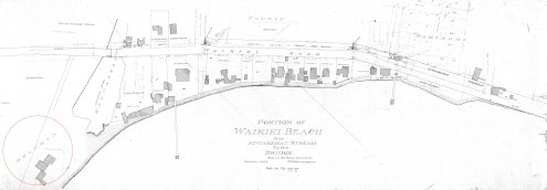 Waikiki-Coastal_Area-Apuakeahu_Stream-to-Bridge-Reg1841-(1897)-noting location of Helumoa