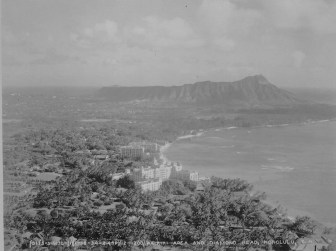 Waikiki with Diamond Head in the background-hawaii-gov-1934
