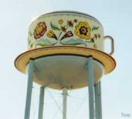 World's Largest Swedish Coffee Cup -birthplace of Virginia Christine, 'Mrs. Olson' of Folger's Coffee fame-Stanton, Iowa