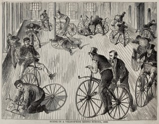 learning-to-ride-a-bike-in-1869-from The New York Coach Makers Magazine
