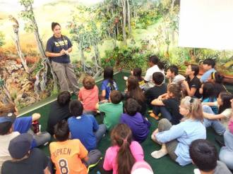 students learn about the endangered birds-HFI