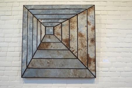 recycled metal artwork, ReVive exhibition Moruya