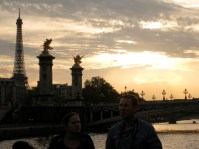 Parisian sights from the Seine, sunset