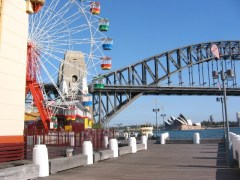 Sydney Harbour Bridge from Milson's Point, Luna Park