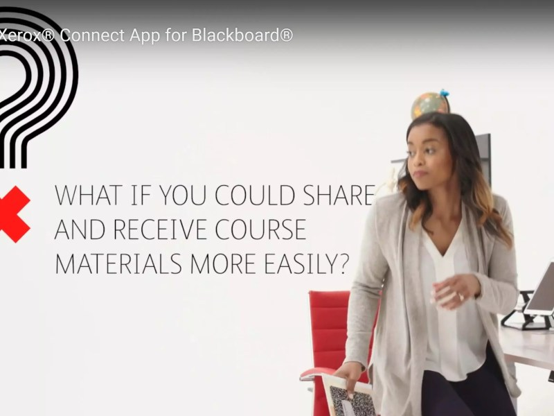 Xerox®Connect App for Blackboard®for Digital Course Materials
