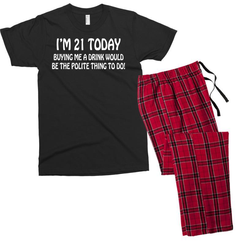 Custom 21st Birthday Men S T Shirt Pajama Set By Tonyhaddearts Artistshot
