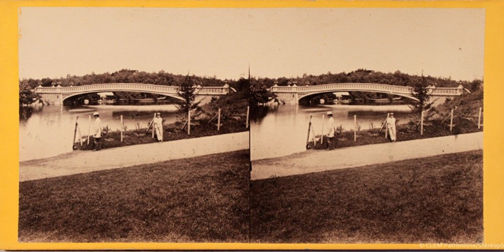 Images stéréoscopiques Anthony E. Central Park Views stereocard stereoview