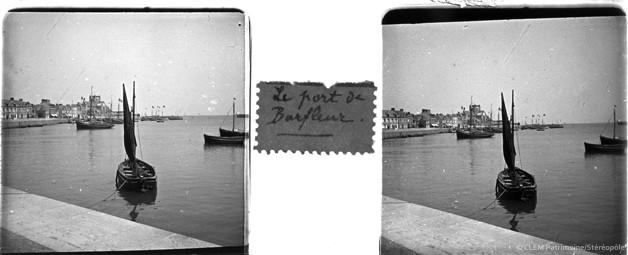 Images stéréoscopiques plaque de verre Barfleur