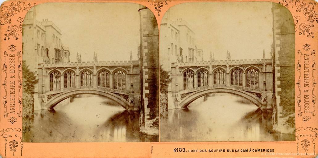images stéréoscopiques Adolphe Block Angleterre et Ecosse Cambridge