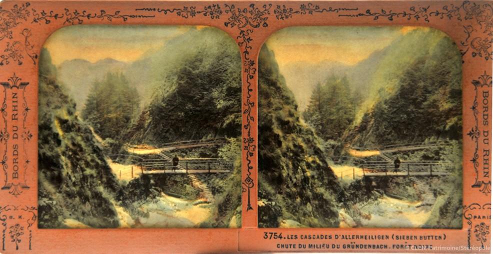 images stéréoscopiques Adolphe Block Les Bords du Rhin Oppenau