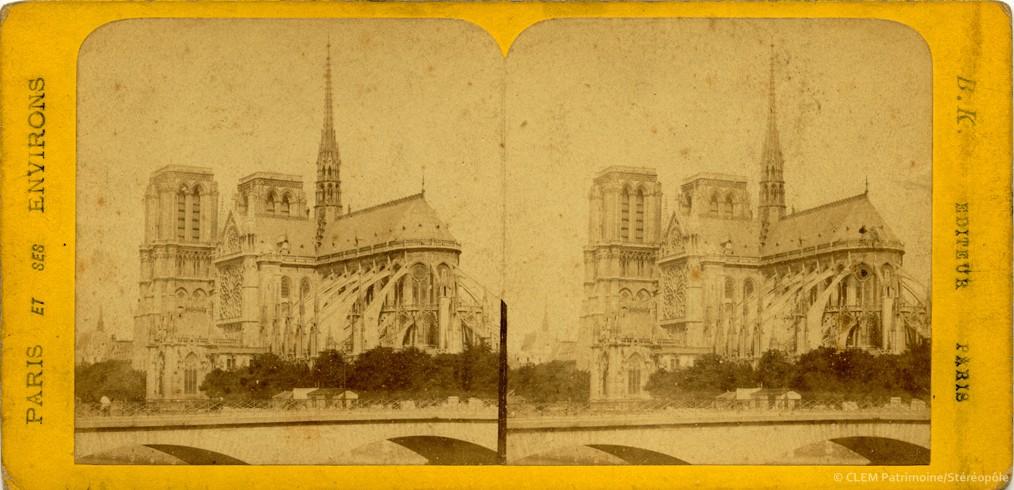 Images stéréoscopiques Paris Notre-Dame Adolphe Block