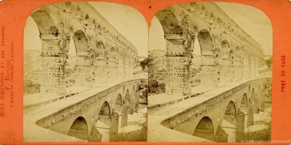 Images stéréoscopiques Dorizzi Pont du Gard