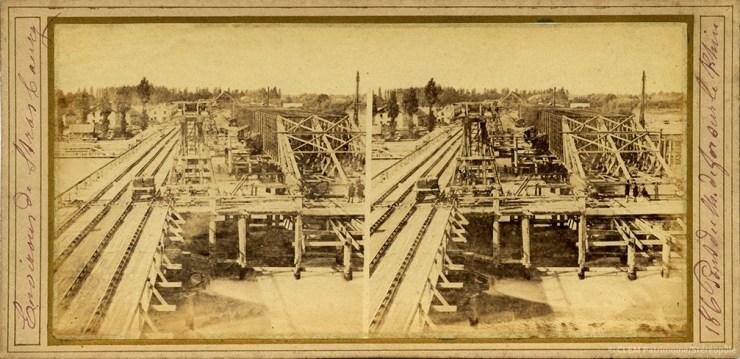 Images stéréoscopiques Strasbourg pont de Kehl