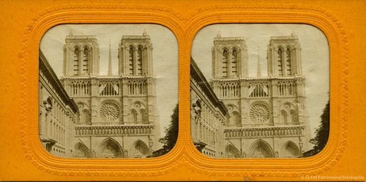 Images stéréoscopique Notre-Dame de Paris tissue