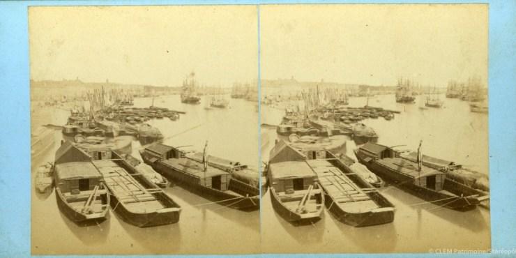 Images stéréoscopiques Bordeaux quais 1862 Jean Andrieu