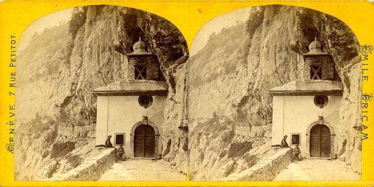 Images stéréoscopiques Emile Bricam Saint-Maurice Notre-Dame-du-Scex