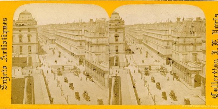 Images stéréoscopiques Paris rue de Rivoli