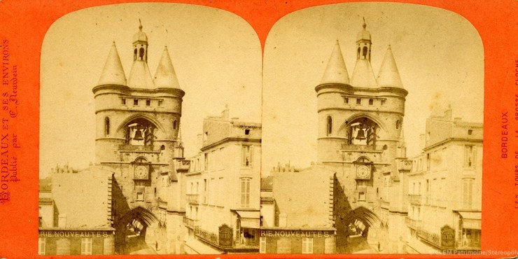 Images stéréoscopiques Neurdein Etienne Bordeaux Grosse cloche