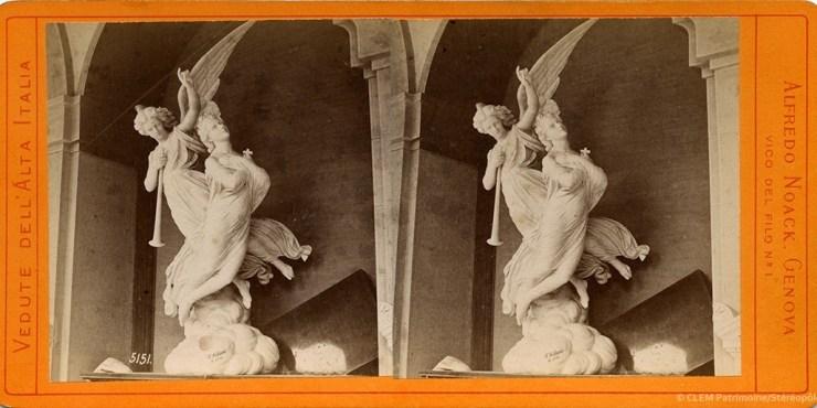 Images stéréoscopiques Noack Alfred Gênes campo santo