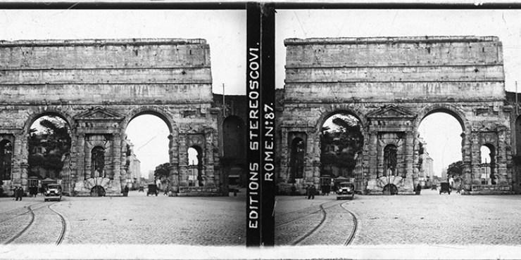 Images stéréoscopiques Stéréoscovi Rome porte Maggiore