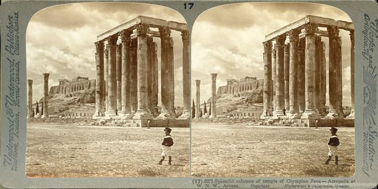 Images stéréoscopiques Underwood & Underwood Athènes 1907