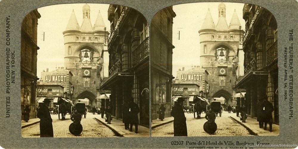 Images stéréoscopiques United Photographic Company Killelea 1908 Bordeaux Grosse Cloche