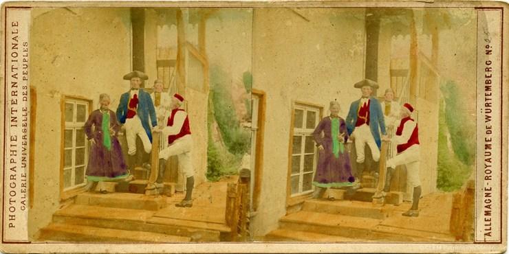 Images stéréoscopiques Varroquier Armand 1864 Galerie Universelle des Peuples