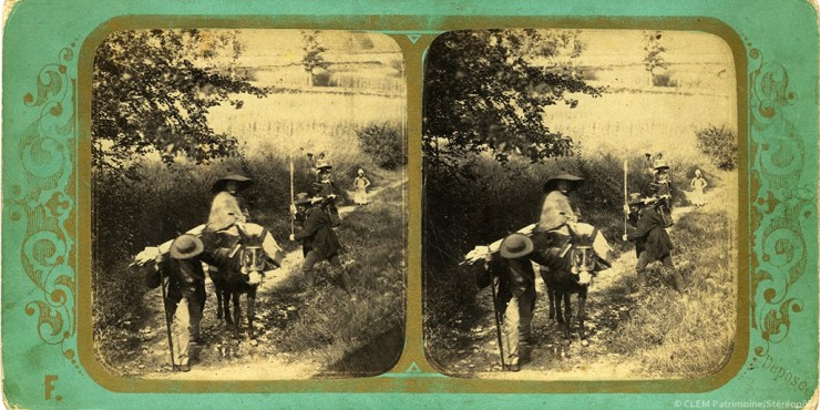 Images stéréoscopiques Viret Frédéric & Fraget Alphonse Scènes de la vie rurale 1857