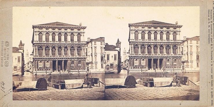 Images stéréoscopiques Perini Antonio Venise palais rezzonico