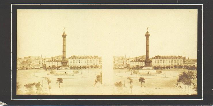 images stéréoscopiques Bisson Paris Colonne de Juillet place de la Bastill