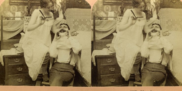 images stereoscopiques 1899 Kilburn It's so funny.