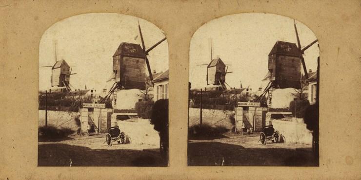 images stéréoscopiques 1857 Paris Moulin de la Galette