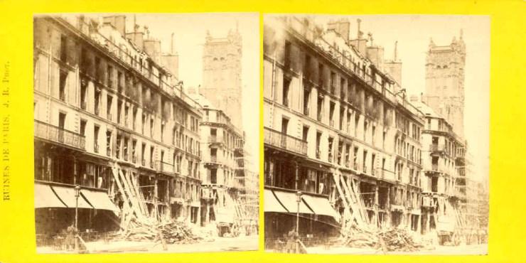 Images stéréoscopiques Paris Ruines de la Commune de Paris 1871