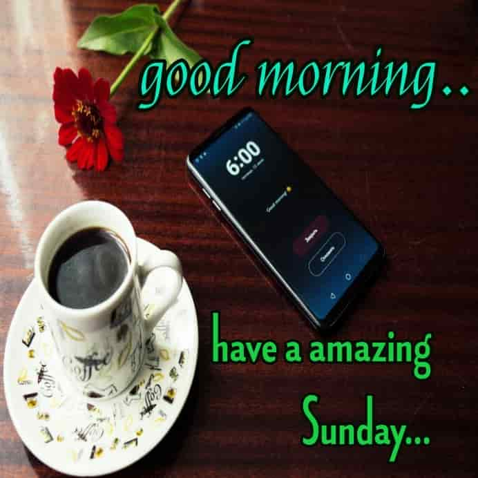 six o clock good morning wishes for sunday