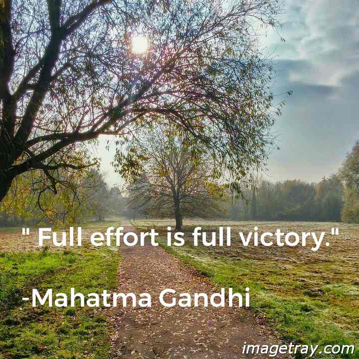 Gandhi quotes on victory
