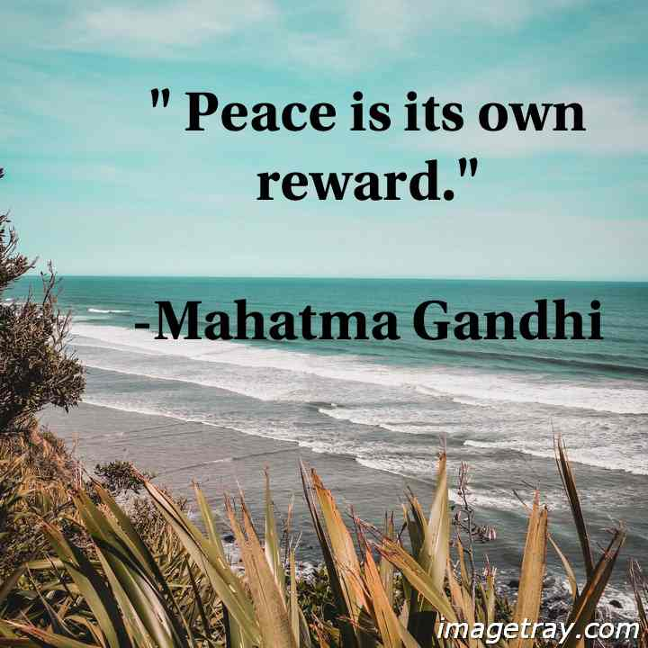 Gandhi quotes on peaceful life