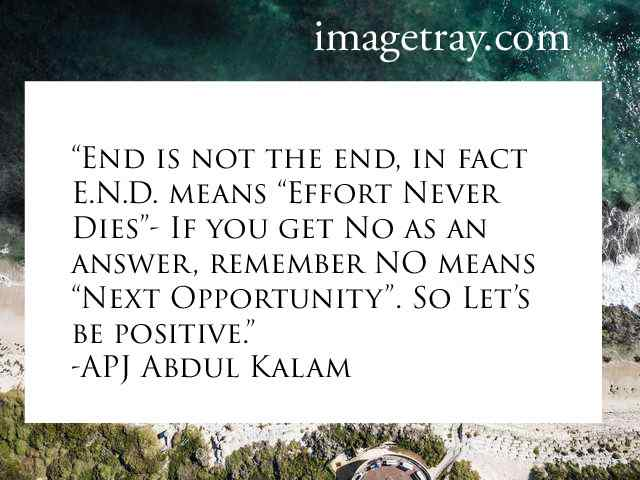 abdul kalam quotes on positive thinking
