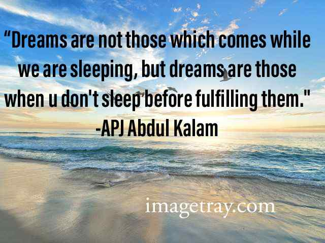real dream quotes from abdul kalam