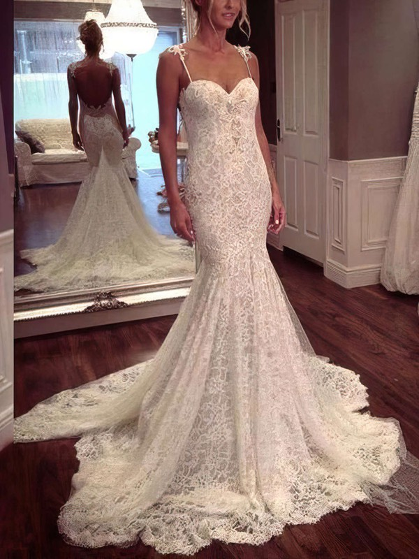 Mermaid Sweetheart Ivory Wedding Gowns