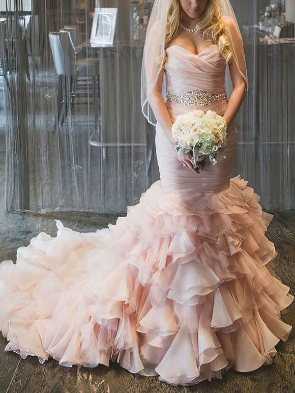Sweet & Flow Sweetheart Pearl Pink Wedding Gown