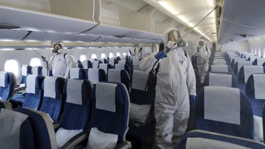 disinfectant aircraft