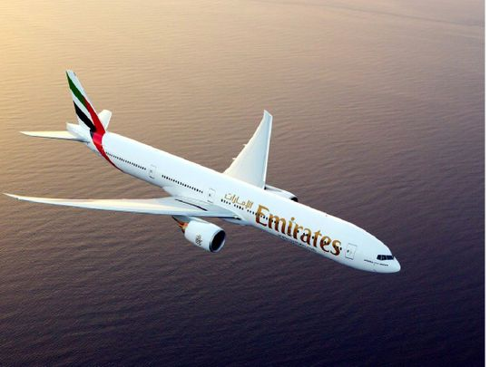 An Emirates Boeing 777-300 ER