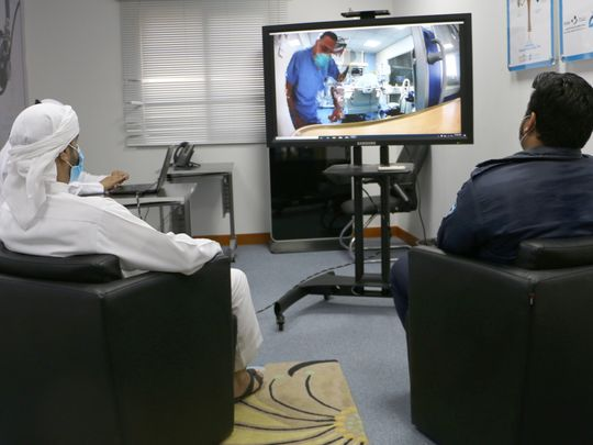 Photo of Al Ain Hospital introduces video call visits for COVID-19 patients